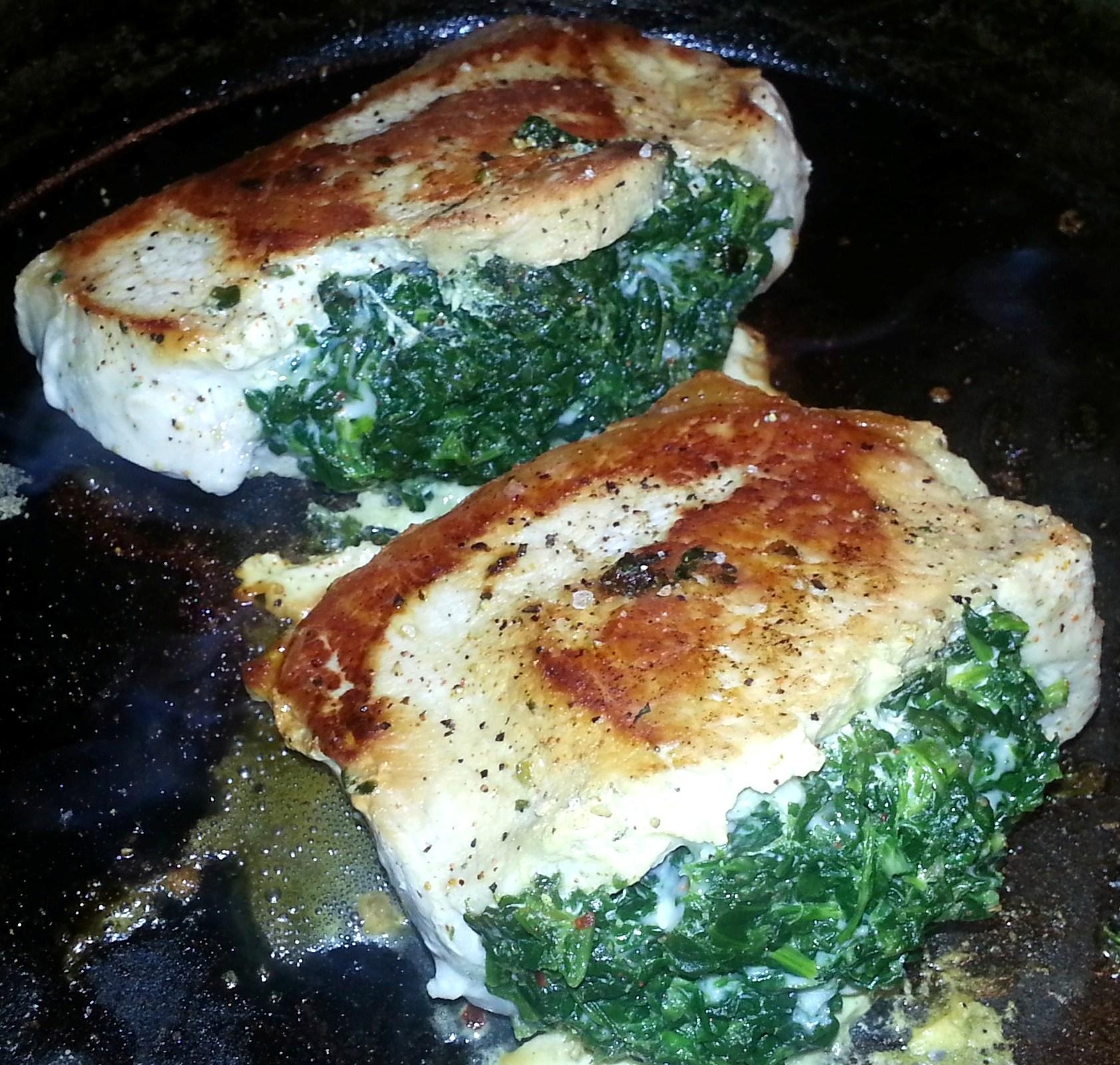 Spinach & Pepperjack Stuffed Pork Chops | Sore Legs & Scrambled Eggs